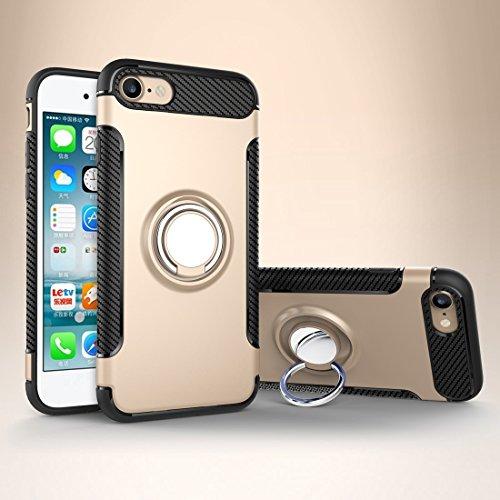 Phone Case & Hülle Für iPhone 6 & 6s Magnetische 360 Grad Rotation Ring Rüstung Schutzhülle ( Color : Black ) Gold