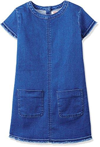 RED WAGON Denim Shift Dress, Vestido para Niñas, Azul (Multi), 4 Años (Talla del Fabricante: 4)