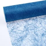 Sizoflor Camino de mesa - azul medio - 30 cm papel de 25 Meter - 60-300-25-036