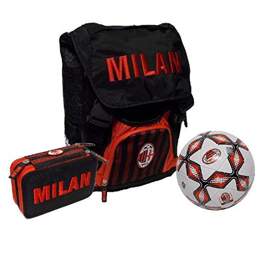 Milan zaino estensibile astuccio 3 zip pallone 58063prm