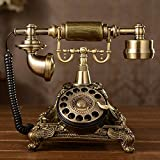 MAOER Kreativ im europäischen Stil Garten Vintage Dreh-Telefon Festnetz-Telefon zu Hause Telefon im Büro , A