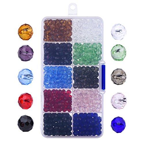 Outus 800 Piezas 6mm Cristal Tallado Perlas De Cristal Rondelles Con C