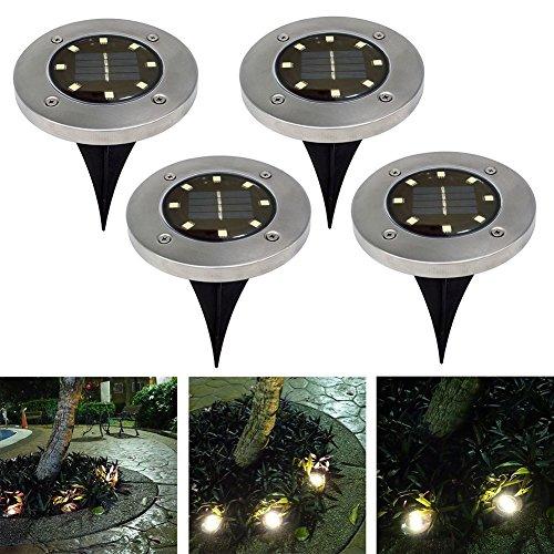 8LED Solarenergie, Licht-Lampe, für den Außenbereich, wasserdicht, den Hof Garten Zuhause Böden Einfahrt-Weg, White Light
