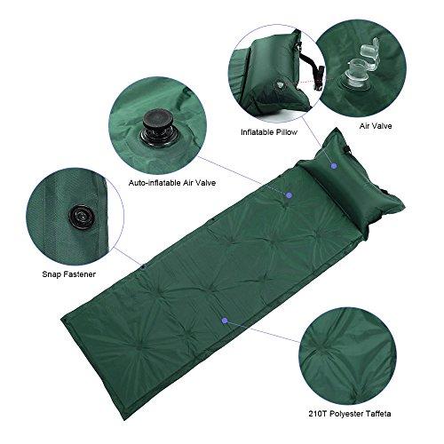 TOMSHOO Selbstaufblasbare Camping Luftmatratze Isomatte mit Kopfkissen - 3