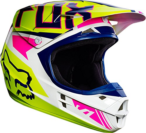 Fox 2017 Niños Motocross/MTB Casco – V1 Falcon – Casco Marina de color blanco: Tamaño: L (49 – 50 cm)