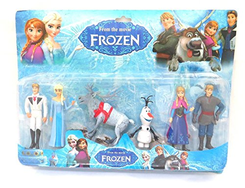 Baby N Toyys Frozen Characters Action Figures - Set Of 6 Pcs Multi Color