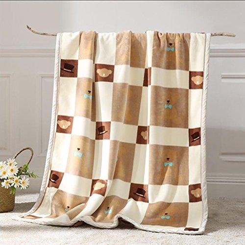 YAOHAOHAO Braun Gelb Lattice Babydecke Decke Polyester Material Winter Kindergarten Konzipiert für Baby (100*150cm)