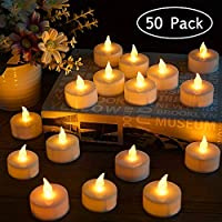 LED Tea Light Candles, Flameless Candle Lights Battery Operated Realistic and Bright Led Tea Lights for Party Wedding Birthday Halloween Gifts Home Decoration (Batteries Include)