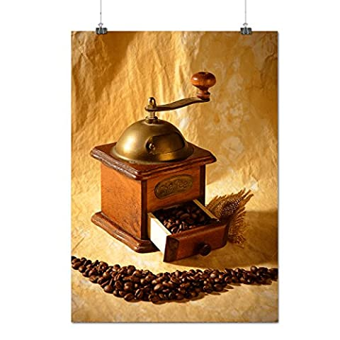 Vintage Coffee Photo Food Bean Cutter Matte/Glossy Poster A2 (60cm x 42cm) | Wellcoda