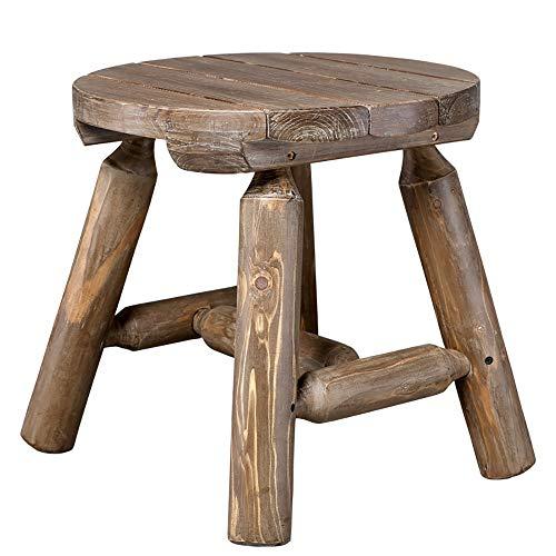 JB- Chaises pliantes Table Basse Bois Massif Petite Table Rondins Forte Chambre Simple Chambre Jardin Terrasse Table De Rangement * (Couleur : # 2)