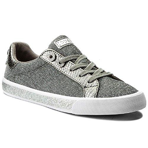 Guess Schuhe Damen meggie FLMEG1 FAM12 Sneaker 37 Silber (Schuhe Flats Guess)
