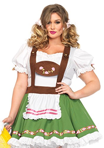 Leg Avenue 85394X - Oktoberberfest Sweetie Damen kostüm, Größe 3X-4X (EUR 48-50) (Halloween-kostüme 3x Womens Größe)