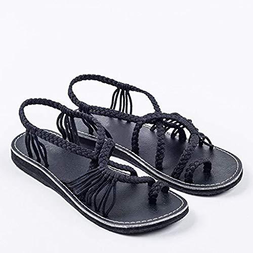 Flache Sandalen Für Frauen Palm Leaf, Römische Flache Sandalen Sommer Clip Toe Strand Sandalen Damen Sandalen,41 -