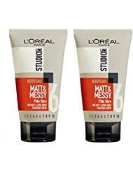 L'Oréal Studio Line Matt & Messy Pâte Fibre Effet Décoiffé - Lot de 2