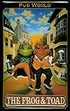 Blechschild Nostalgieschild Frog and Toad London Pub Frosch Kneipenschild retro Schild