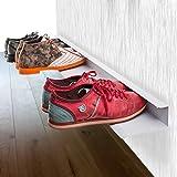 Bentatec Schuhregal für 4 Paar Schuhe zur 100 cm lang Schuhschrank Regal Schuhe