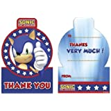Sonic thank You Cards (Pack 6) for Disposable Party Tableware by Pams