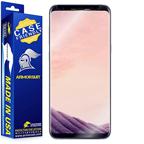 Armorsuit - Galaxy S8+ Screen Protector [Case Friendly] MilitaryShield For Samsung Galaxy S8+ Anti-Bubble HD Clear