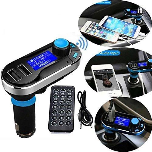 FM Transmitter Car Kit Bluetooth Wireless MP3 Player Musik Fernsprecheinrichtung Ladegerät 2 USB ports 5V/2.1A Output, Micro SD/TF Karten Leser Radio Adapter mit Fernbedienung (Bluetooth Car Kit Mp3-player)