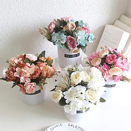 Homeofying 1 stück Topf künstliche Blume Bonsai DIY bühnengarten Hochzeit wohnkultur für Wohnzimmer Orange