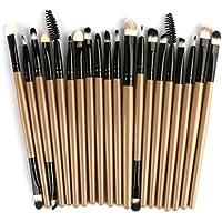 QUICKLYLY 20Set Juego de Brochas Maquillaje Profesional Ojos Facial Base Sombra Mujer Pincel Mezcla Blush barato