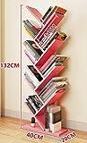 ZCJB Baum Bücherregal Einfache Wohnzimmer Boden Bücherregal Persönlichkeit Schlafzimmer Kinder Bücherregal Wirtschaftliche Art Multi-color Optional ( Farbe : Pink )