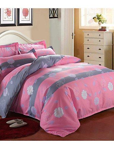 LIANGTT Vier Sätze Bettwäsche,aloe Baumwollgewebe 4 Stück Bett Auskleidungen aktiven Druck Einzel- oder Doppelbettdecke Bettwäsche-Set, full