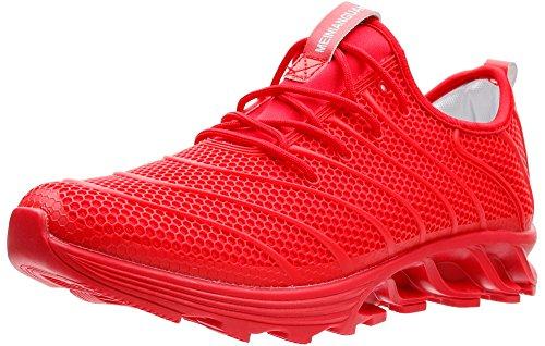 JOOMRA Herren Athletische Runners Schuhe Komfort-Halbschuhe Laufen auf Dem Laufband Für Unser Tägliches Lauf-Training Mann Sneaker Rot 41 EU