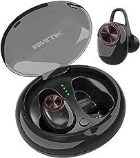 Bluetooth Kopfhörer kabellos in Ear Sport Bluetooth 5.0 TWS Sport Headset IPX5 Wasserfest mit Mikrofon, Noise-Cancelling für iPhone und Android Smarthandys Schwarz