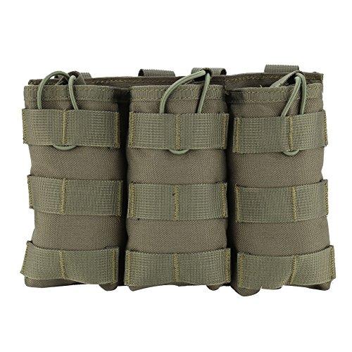 Magazintasche dreifache Tasche Patronentasche Open-Top Molle Tasche Holster Tasche ( Farbe : Grün , Design : Triple Pouch )