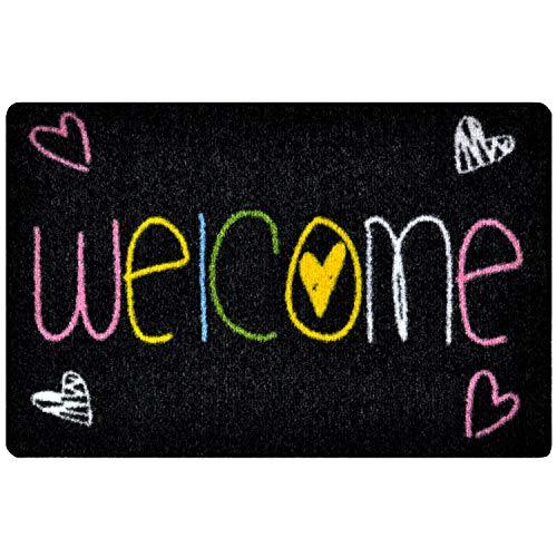 Zerbino ingresso casa - interno e esterno, corridoio, tappeti arredamento casa moderno, antiscivolo e lavaggio, tappeto ingresso casa benvenuto - welcome