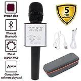 HAISHULIN Wireless Mikrofon Bluetooth, Handheld Karaoke-Mikrofon Lautsprecher, tragbare KTV-Player Startseite KTV Music Machine System für iPhone/Android Smartphone/Tablet kompatibel (Q9 Schwarz)