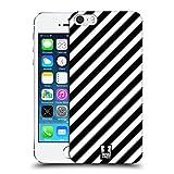 Head Case Designs Zebra Muster Schwarz-Weiss Muster Ruckseite Hülle für Apple iPhone 5 / 5s / SE