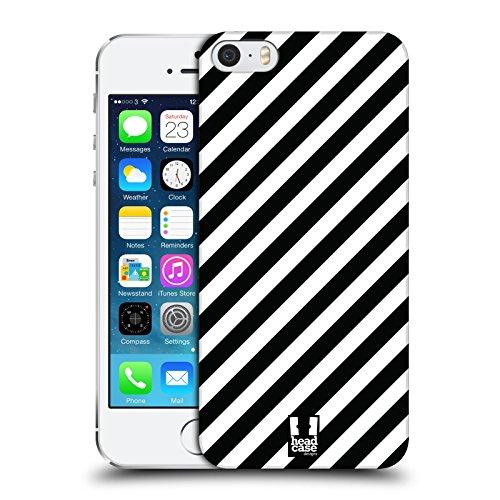 Head Case Designs Zebra Muster Schwarz-Weiss Muster Harte Rueckseiten Huelle kompatibel mit iPhone 5 iPhone 5s iPhone SE -