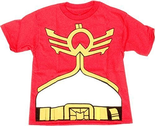 Power Rangers Mighty Morphin Megaforce Jungendliche rot Kostüm T-Shirt (Jungendliche Large) (Mighty Morphin Power Rangers Kostüm T Shirt)
