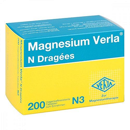 Magnesium Verla N Dragees, 200 St. Dragees