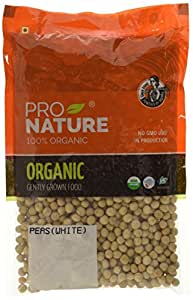 Pro Nature 100% Organic Peas (White) 500g