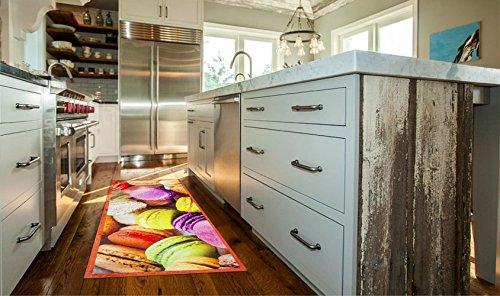 tappeto stuoia cucina moderno biscotti colorati kitch macarons ... - Tappeto Cucina Moderno
