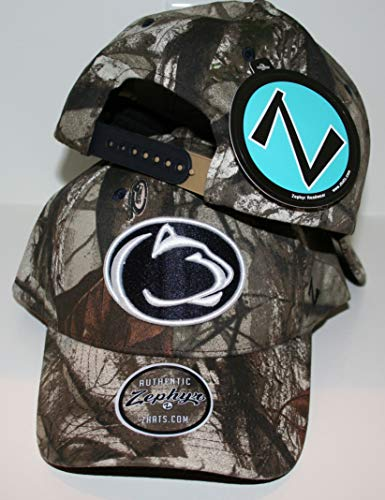 Zephyr Penn State University PSU Nittany Lions Remington Hunting Camo Adult Mens/Womens/Youth Adjustable 100% Cotton Baseball Hat/Cap