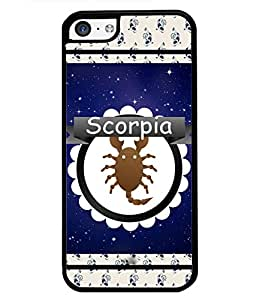 Printvisa 2D Printed Sunsign Scorpio Designer back case cover for Apple I Phone 5C - D4428