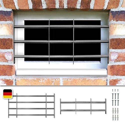 Fenstergitter Venlo ausziehbar Sicherheitsgitter verzinkt 30 x 70-100cm inkl. Sicherheitsschrauben