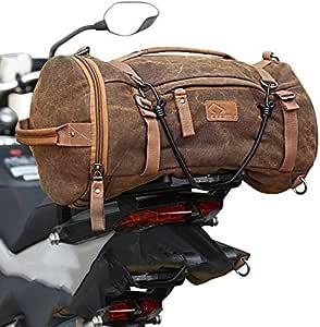 Motorrad Rucksack//Hecktasche Canvas Craftride Vintage VG8 35 Liter schwarz