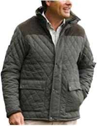 Champion Mens Lewis Country Estate Clothing Warm Quilted Fleece Lined Coat