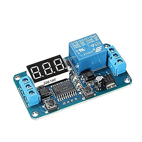 DC 12V LED Display Digital Switch Control Delay minuterie Module PLC