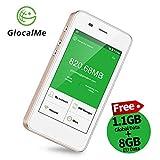 GlocalMe G3 4G LTE Mobiler WLAN Router/Hotspot/MiFi mit Powerbankfunktion, mit 1 GB globalen Daten, Simkarten-frei, ohne Roaming-Gebühren, verwendbar in über 130 Ländern (G3-Gold)