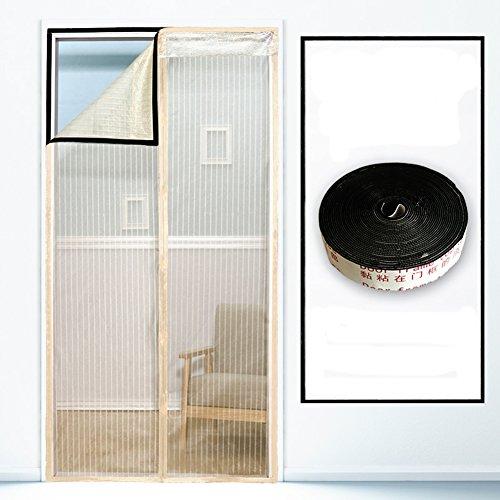 DULPLAY Anti-Moskito Magnet fliegengitter Tür,Sommer mit Frame Velcro Anti-Fehler Insekt Belüftung Freier Stempel der magnetvorhang -B 180x220cm(71x87inch)