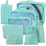 Joyoldelf juego de 8 esencial bags-in-bag embalaje cubos de viaje, upgraded maleta equipaje...