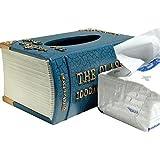 Caja de toalla de papel de la sala de estar Caja de colección de libro retro de la casa creativa , 002