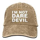 jinhua19 Hüte,Kappen Mützen Baseball Jeans Cap I'm Not Daredevil Men Golf Hats Adjustable Plain Cap