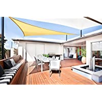 SUNLAX Vela de sombra triangular 3 x 3 x 3 metros, toldo resistente e impermeable, para exteriores, jardín, Color Arena